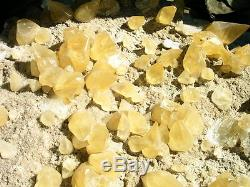 100++lb Museum Grade Collectors Golden Calcite Display Crystal Plate From Brazil