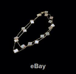 18K Gold Plated Clover Necklace 20 Motifs with Mother of Pearl