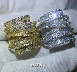 18k Gold Plated Bold Ring made w Swarovski Crystal Stone Gorgeous Index Ring