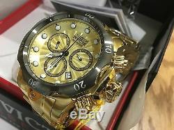 23894 Invicta Venom 53mm Men Quartz Chronograph 18 KT Gold-Plated Bracelet Watch