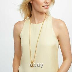 24K Gold Plate Coin Statement Pendant Necklace
