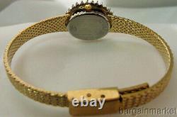 24K Gold Plated Half ct 50 Genuine Diamonds Ladies Womens Geneve Quartz Watch