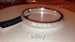 $350 Nadri 18K White Gold Plated Pave Swarovski Crystal Bangle Bracelet Last One