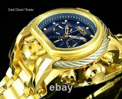 52MM Invicta Reserve Bolt Zeus MAGNUM Swiss Dual Movement All Gold Plated Watch