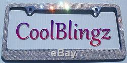 8 Row CRYSTAL Rhinestone Bling License Plate Frame made with Swarovski Elements