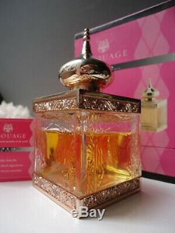 AMOUAGE DIA Femme EDT 40ml of 50ml Vintage 2002 24ct Gold Plated Crystal Bottle