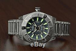 ARAGON SilverJet 50mm Skeleton Gray Ion Plated AUTOMATIC Dive Watch A232GRY