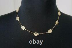 Anna Beck Smokey Quartz Station Short Necklace 18K Gold Plated Sterling Silver