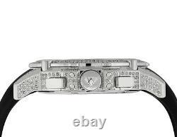 Aqua Master White Gold Plated Limited Edition Nicky Jam Diamond Watch NJ2 5.0 Ct
