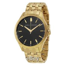 Armani Exchange Black Dial Gold-plated Men's Watch AX2145