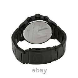 Armani Exchange Chronograph 49mm Black Ion Plated Steel Men's Watch AX1277