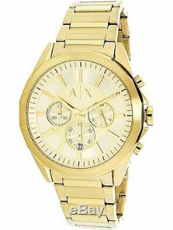 Armani Exchange Men's AX2602 Gold Stainless-Steel Plated Quartz Fashion Watch