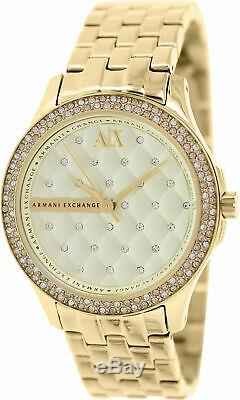 Armani Exchange Women's AX5216 Gold Stainless-Steel Plated Japanese Quartz Dr