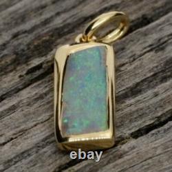 Australian Crystal Opal Gold Plated Pendant Pen758