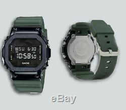 Authentic G-Shock Digital Black Ion-Plated Metal Bezel Camo Dial Watch GM5600B-3
