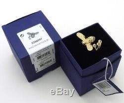 Authentic NIB Swarovski Gold Plated LISABEL Bumblebee Ring Size 55 US 7