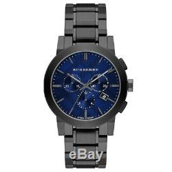 BURBERRY BU9365 Chronograph Blue Dial Ion-plated Men's Watch