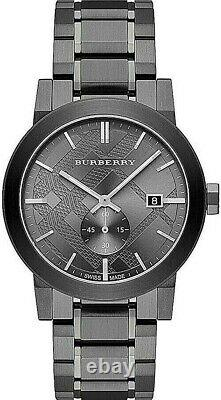 Brand New Burberry BU9902 Gray Ion Plated Stainless Steel Gray Dial Men's Watch