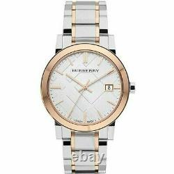 Brand New Burberry City BU9006 Stainless Steel Rose Plated 38 mm Unisex Watch