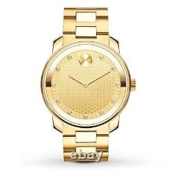 Brand New Men's Movado Bold 3600374 Gold Ion-Plated Watch