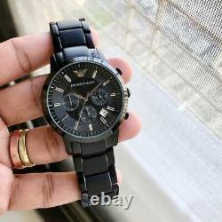 Brand New Original Emporio Armani Ar2453 Black Ion Plated Chronograph Watch Uk