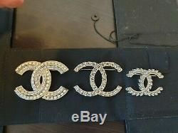 Brand new Chanel CC Brooch Gold plated with crystal and Pearl 100% Authentic