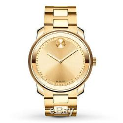 Brand new MOVADO BOLD yellow gold ion-plated yellow gold dial watch 3600258