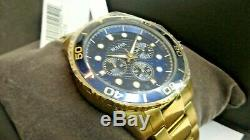 Bulova 98A172 Bulgen Marine Star Gold Plated Quartz Men's Watch -NEW