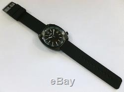 Bulova Accutron II ION-PLATED BLACK SNORKEL Bracelet & Barton Rubber NEW