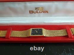 Bulova Ladies Dress watch Gold Plated New Battery original box