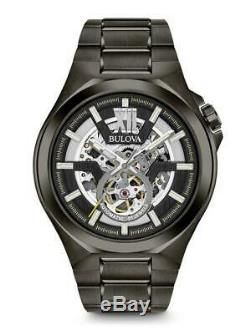Bulova Mens Automatic Collection Ion-Plated Gunmetal Grey Watch 98A179