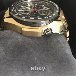 Bulova Precisionist Men's Gold Plated Gray Dial Chronograph Watch 98B271
