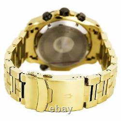Bulova Precisionist Men's Gold Plated SS Gray Dial Chronograph Dive Watch 98B271