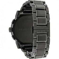Burberry BU9365 Chronograph Blue Dial Dark Grey Ion-plated Men's Wrist Watch USA