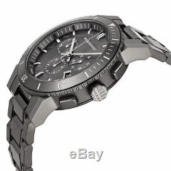 Burberry Chronograph Men's BU9354 Large Gray Ion Plated Stainless Steel Watch
