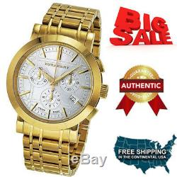 Burberry Men's BU1757 Heritage Gold-Plated Stainless Steel Gold Chronograph Dial