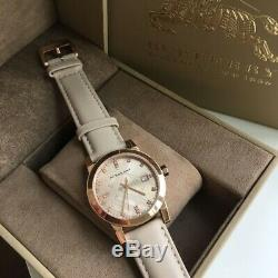 Burberry Rose Gold Ion-Plated Analog Leather Strap Quartz Women's Watch BU9131