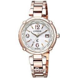 CITIZEN xC Happy Flight EC1047-57A Titanium Gold Plated Women's Watch with Box