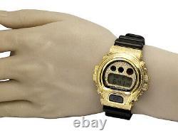 Casio Mens G Shock 6900 Yellow Gold Plated S. Steel Genuine Diamond Watch 3.0 Ct