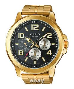 Casio Mens Watch Sports Large Case Multidial Gold plated MTP-X300G-1AV UK Seller
