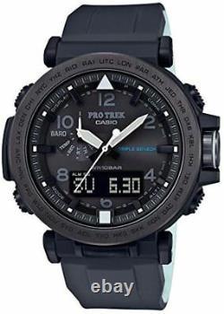 Casio Protrek Triple Sensor Solar Silicon Band Grey Ion Plated Watch PRG650Y-1