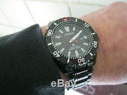 Citizen Men's' Promaster' Diver Black Dial Black Ion Plated Eco-Drive BN0195-54E