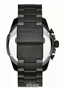 DIESEL DZ4318 Mega Chief Black Ion-plated Chronograph Men's Wrist Watch