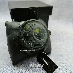 Diesel DZ7296 Men's Watch Radar Mr Daddy Analog/Digital Dial Black Ion Plated