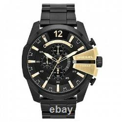 Diesel Mega Chief DZ4338 Chronograph Black Dial Ion Plated Men's Watch