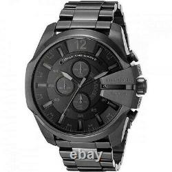 Diesel Mega Chief DZ4355 Black Chronograph Dial Ion Plated Stainless Steel Watch