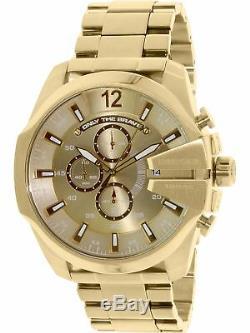 Diesel Men's DZ4360 Gold Stainless-Steel Plated Japanese Quartz Fashion Watch