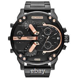 Diesel Mr. Daddy DZ7312 Black Dial Black Ion Plated Wrist Watch For Men