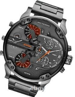 Diesel Mr. Daddy DZ7315 Black Dial Gunmetal Ion-Plated Men's Watch