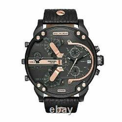 Diesel Mr. Daddy DZ7350 Black Dial Black Ion Plated Wrist Watch For Men